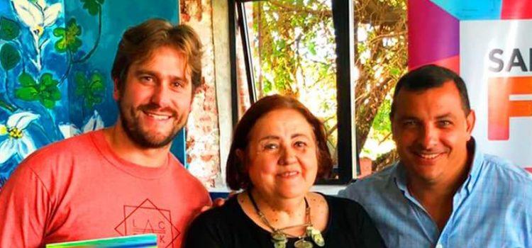 Junto a la Ministra de Innovación y Cultura de Santa Fe Chiqui González